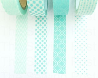 Washi Tape Set: Minty Kisses