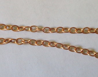 solid COPPER CHAIN 3 Dollars 25 cents per FOOT