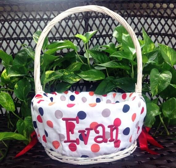 Basket Liner Easter Basket Liner Personalized Basket Liner