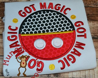 GOT MAGIC Disney Applique Shirt - Disney Trip - Vacation - Birthday Shirt - Minnie Mouse- Mickey Mouse