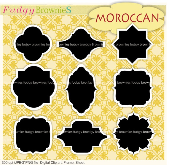 ON SALE white Borders black inside Frame clipart, printable labels ...