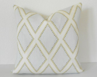 Beige brookhaven dotted diamond geometric decorative pillow cover