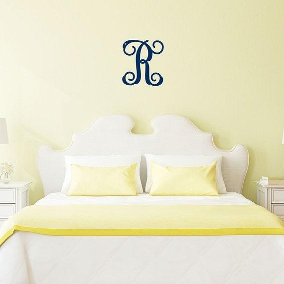 Personalized Wood Wall Decor : Wood monogram single initial personalized wall decor