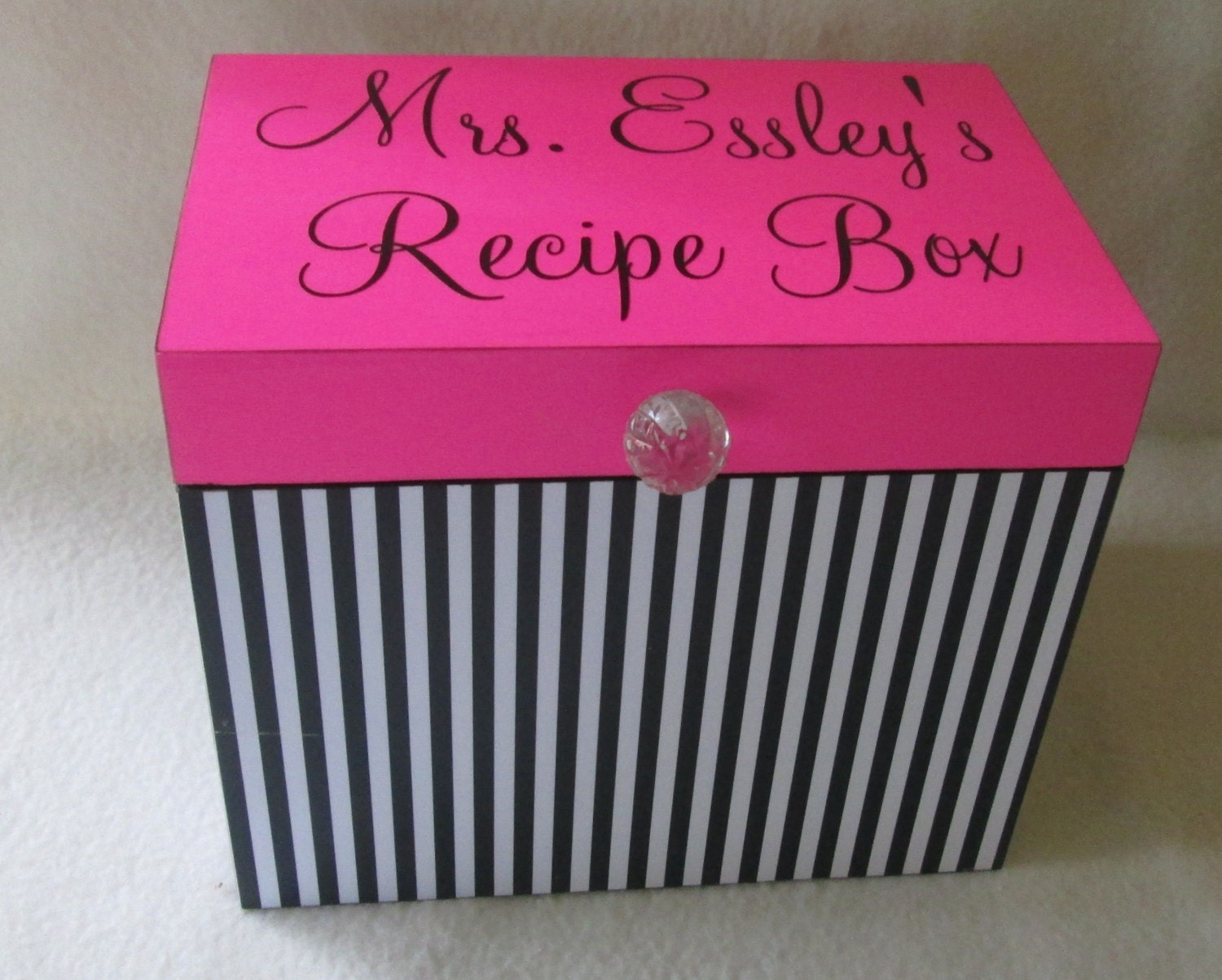 large recipe box for 5x7 dividers and cards wood recipe