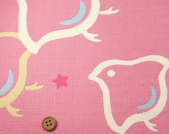 Japanese Fabric : Plovers with Little Stars - 1/4 Yard