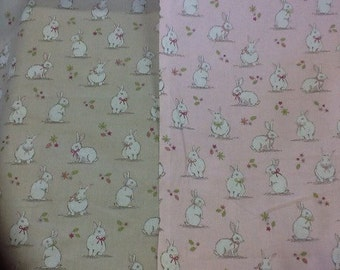 Bunnies 100% cotton craft fabric sold by the half metre