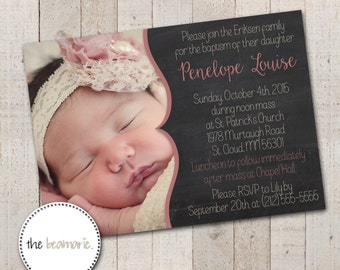 Digital Baptism Invitation -- Chalkboard