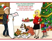 Christmas List - Custom Illustrated Christmas Card - Holiday Card - Hannukah Card - DIY Printable - Print Option Available
