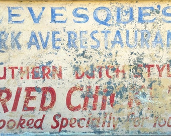 Antique advertisement hand painted sign