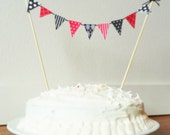 DIY - Printable - Mini Bunting - Tiny Banners - Pennant Banner - Cake Topper - Wedding - Bridal or Baby Shower - Birthday Party