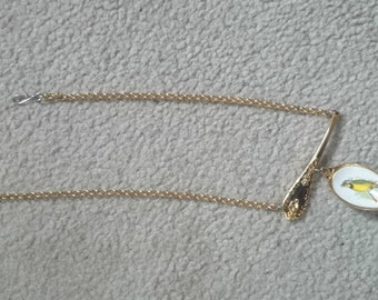 Vintage Gold Plated Spoon Necklace, Spoon Jewellery, Souvenir Teaspoon Necklace #17
