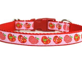 """Apple Dog Collar 3/4"""" Fall Dog Collar"""