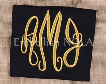 Black Shirt or Bodysuit with Metallic Gold Monogram Shirt or Bodysuit Saints Inspired