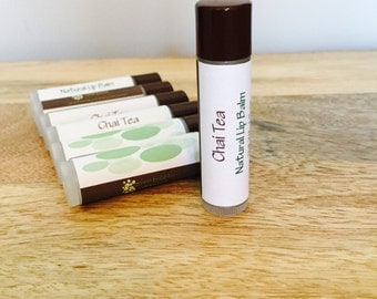 Chai Tea Lip Balm, Organic and All Natural