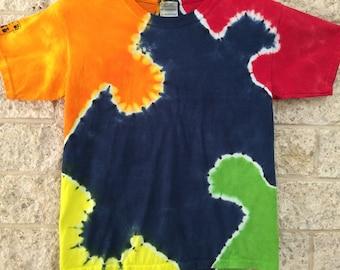Autism Awareness Tie Dye, Child Small