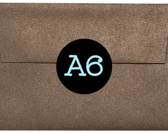 "12 Metallic Bronze Brown A6 Envelopes - 4 3/4"" x 6 1/2"""