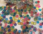 Vintage Craft Art Supply Bingo Tokens Chips  Plastic Multi-Color