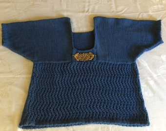 Beaded Blue Sweater
