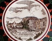 1940's Vernon Kilns pottery Mission Series San Juan Capistrano collector plate
