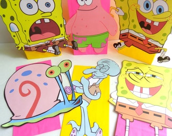 SpongeBob inspired Party Favor Bags Full body