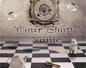 Basic Custom Etsy Shop Banner Set (Pre-made) - Wonderland