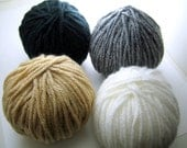 Destash Yarn balls, 4 balls, 30 yards each, set AB1, destash sale knitting, crochet, craft yarn