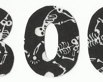 Small Halloween Fabric Letter Iron On Appliques