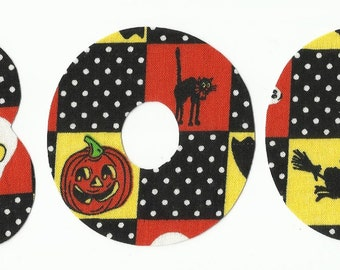 BOO Halloween Fabric Letter Iron On Appliques
