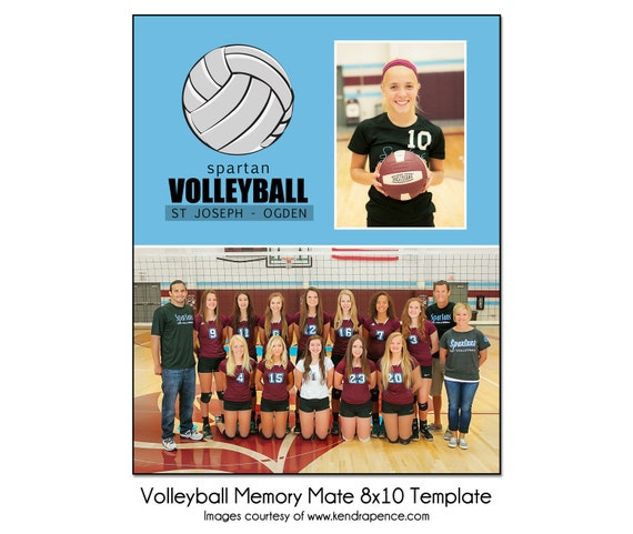 Volleyball Mm4 Memory Mate Sports Photo Template