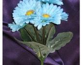 New Pool Silk Flowers, Pool Gerbera Daisy Bunch, DIY Pool Wedding Flowers, Pool Bouquet 6 blooms
