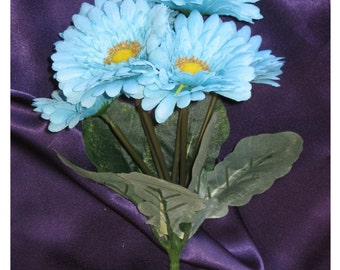 New Pool Silk Flowers, Pool Gerbera Daisy Bunch, DIY Pool Wedding Flowers, Pool Bouquet 6 blooms