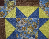 Wall Hanging - Quilted - Yellow and Blue