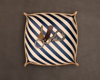 Catchall Tray - Navy Stripe