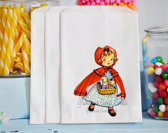 Little Red Riding Hood Goody Bags, Little Red Riding Hood Treat Bags, Little Red Riding Hood Party Favor Bags, GLAMOROUS SWEET EVENTS