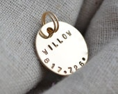Gold Cat Tag - Pet ID - Small dog - Personalize