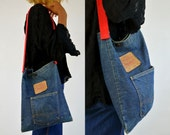 Vintage Levis Indigo Denim 501 Tote Messenger Bag