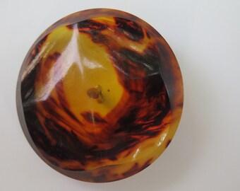 Large Translucent Tortoise Vintage Button, #11