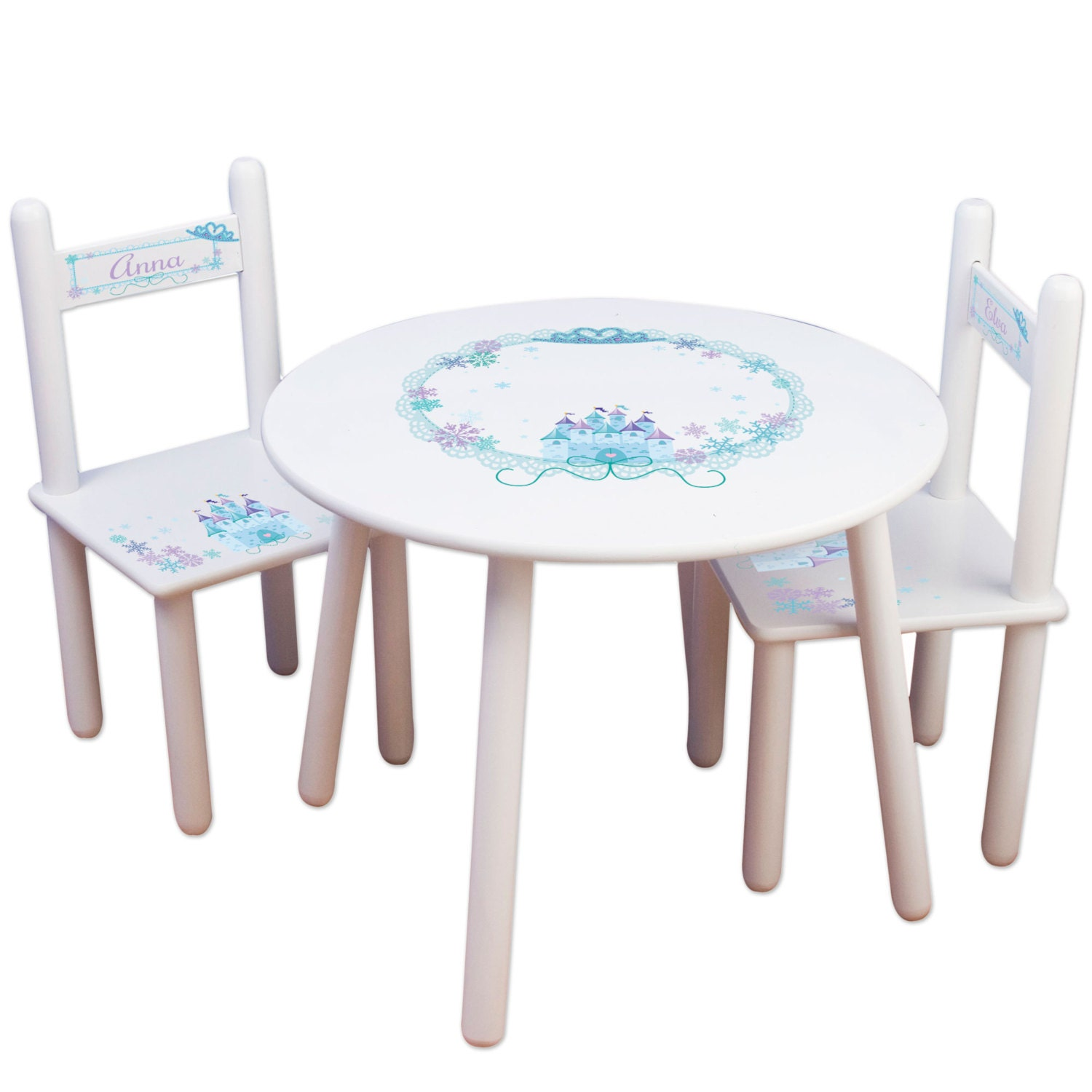 Girls Princess Table Chair Set Kids Furniture Childs Table