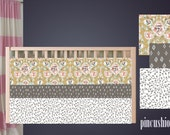Woodland Southwestern Tribal Stitch Floral and Arrow Baby Girl Bedding Nursery Crib Set  Rose Gold Grey Crib Cot Set