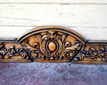 Vintage architectural salvage wall hanging fronton