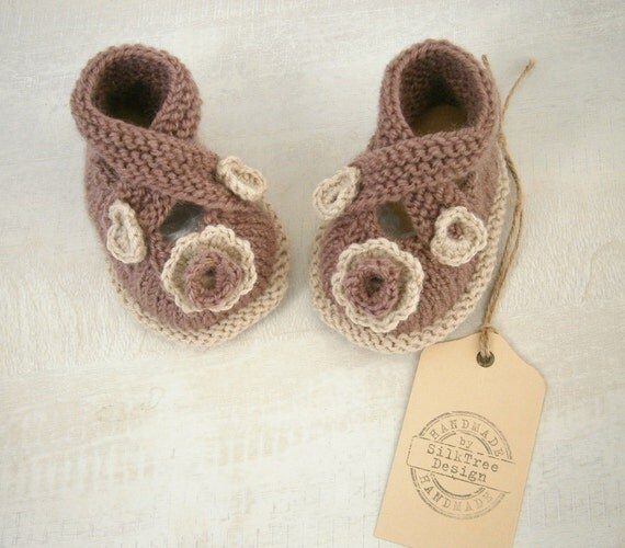 Baby Booties, Hand Knitted Baby Girl Booties,knit Baby Shoes, knit Baby Booties, Baby Girl Shoes
