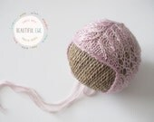 Knitting Pattern - Field Flowers Knit Bonnet - Newborn Photography Prop
