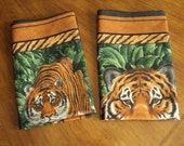 Tiger Napkins  set of four every day napkins  join the green scene
