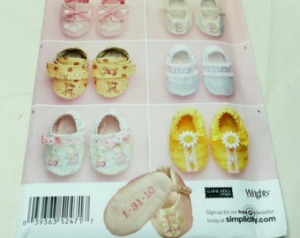Simplicity 2471, One size, Baby Shoes
