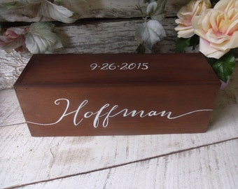Wine Box, Wedding Wine Box,Wedding Gift, Anniversary Gift, Love Letter Box, Wine Ceremony