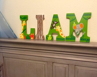 SALE 10% off Painted Nursery wall letters