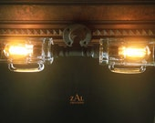 Vanity light. Picture light. Beer mugs, Plumbing pipe & fittings. Wall lamp. Bathroom Vanity Lighting Fixture. Sconce