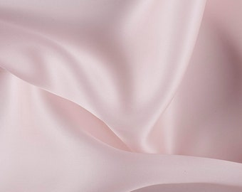 "54"" Wide 100% Silk Satin Organza Blush Pink by the yard"