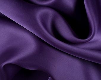 "54"" Wide 100% Silk Satin Organza Purple by the yard"