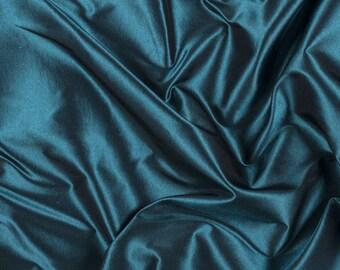 "54"" Wide 100% Silk Taffeta Iridescent Teal by the yard"